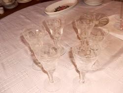 Régi szép pohár 5  darab