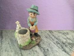 Hummel jellegű  kedves porcelán figura, hibátlan