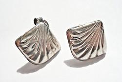 Kagyló alakú 925-ös ezüst fülbevaló
