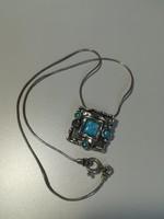 Izraeli ezüst nyaklánc opálkővel