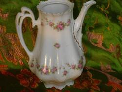 Gyönyörű,rózsagirlandos, jelzett szecessziós teáskanna.