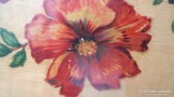 AKCIÓ !!!!!!!! Antik fa tálca hibiszkusz virággal