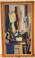 HATALMAS 130x80cm..Bencs Gábor ( 1936-) Asztali csendélet c  olajfestmény eredeti garanciával..