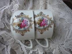 Rózsás bögre, csésze - 2 db