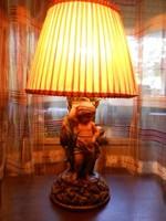 Fischer, zsolnay museum lamp around 1900. Individual piece.