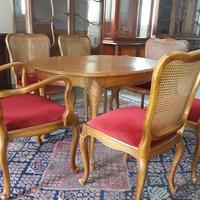 Warrings 7darabos étkezőasztal 6 székkel garnitura
