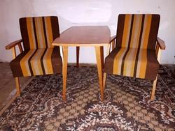 Retro Fotelek+Asztal