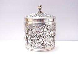 Douwe Egberts ezüstözött teafűtartó.