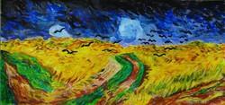 Van Gogh Hollók a gabonaföldek felett MESTERMÁSOLATA
