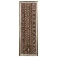 Tradícionális burmai textilkép (kalaga) - Páva falikép, falidísz