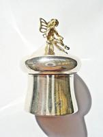 Apró angol ezüst angyalos doboz