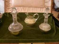 Ezüst talpú olaj - ecet - citromlé tartó