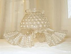 Szecessziós, fodros, bütykös asztali vagy fali lámpabúra