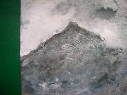 Várrom  Lehoczky József, olaj, farostlemez,16,5 x 17,5 cm keret nélkül