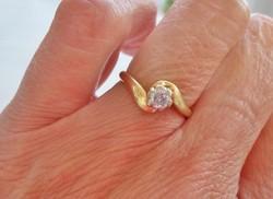 Szépséges antik 0.25ct brill 18kt aranygyűrű