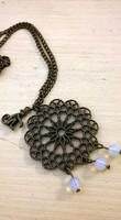 Vintage nyaklánc makival és opalitokkal (új)