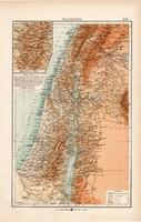 Palesztina térkép 1904, eredeti nyomat, K. u. K. Hofbuchhandlung