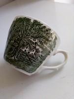 Régi angol ranch ,zöld mintás csésze