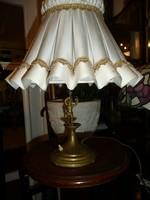 Meseszép antik barokk asztali lámpa angyalkával, szép régi ernyővel eladó