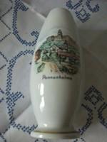 Hollóházi porcelán Pannonhalmi emlék váza