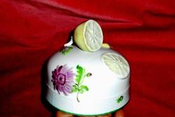Antik citromfogós  kézi festett Herendi porcelán  kínáló fedele