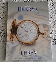 HENRY's AUKCIÓSHÁZ ÁRVERÉSI  - ÓRA  KATALÓGUS  2005