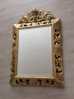 Hatalmas és csodálatos faragott fa florentin tükör
