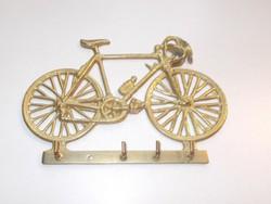 Réz bicikli fali kulcstartó, akasztó
