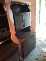 Barna Bonanza szekrény, tálaló (3 db.)