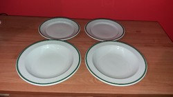 Alföldi jelzett zöld csikos  porcelán tányérok  4 db, 70-80-as évekből !