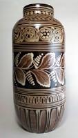 Vásárhelyi nagy jelzett kerámia váza
