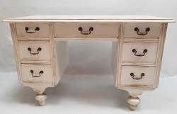 Fehér Provence 7 fiókos íróasztal