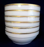 6 személyes arany szegélyes Alföldi gulyás tányér