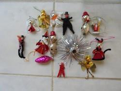 Figurális retro karácsonyfa díszek (11 db)