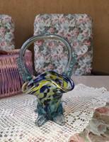 Régi hutaüveg kosárka