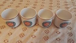 Hollóházi unikumos porcelán aranyazott 4db