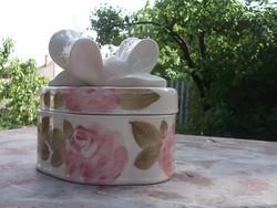 Új Rózsás bonbonier-cukortartó különleges egyedi magyar -ajándékba is