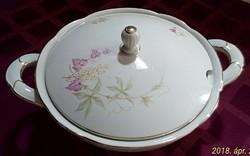 Szép formájú, mintájú porcelán levesestál