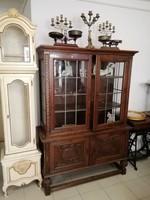Ólombetétes vitrin szekrény,bútor,régi