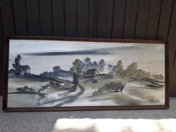 120 cm x 52 cm óriási   Németh Zoltán olaj / farost festmény