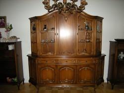 Warrings nagy tálalóvitrines szekrény 210x205x45cm