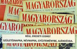 1990 február 9  /  MAGYARORSZÁG  /  SZÜLETÉSNAPRA RÉGI EREDETI ÚJSÁG Szs.:  5732