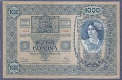 1000 Korona 1902 Bélyegzés nélkül XF
