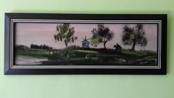 Németh Zoltán olaj / farost festmény :64,5 cm x 24,5 cm