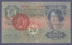 20 Korona 1913 1. Kiadás hamis Magyar bélyegzéssel
