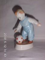 Zsolnay labdázó fiú,porcelán figura