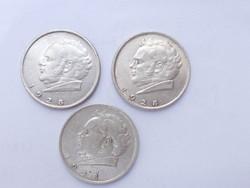 3 darab SCHUBERT, ezüst 2 SCHILLING,1928