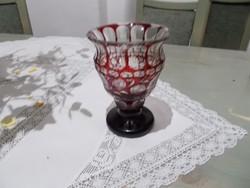 Csoda szép szecesszios kristály váza