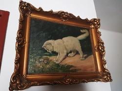 Heyer Arthur másolat(?) - Lepkét kergető cica