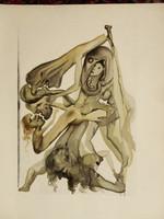 Salvador Dali eredeti fametszete!